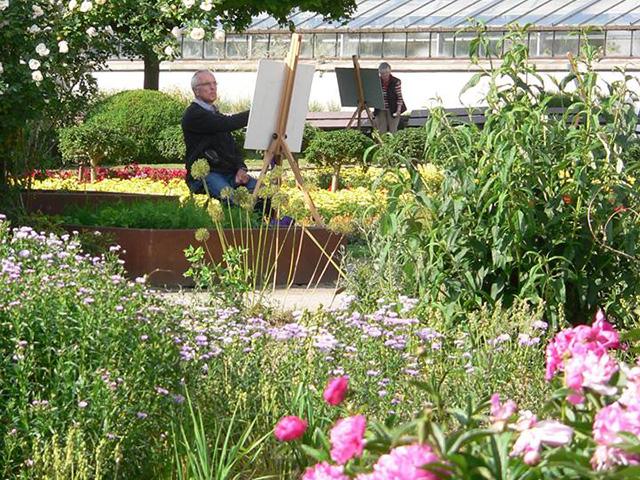 Botanischer garten solingen malen zwischen beet und baum - Garten zeichnen ...